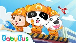 Download Little Panda Fireman | Nursery Rhymes | Kids Songs | BabyBus Video
