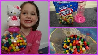 Download Annabelle Toy Freaks Hello Kitty Gumball Machine ″Double Bubble Gum″ Messy Filling Video