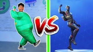 Download CHUBBY FORTNITE DANCE CHALLENGE IN REAL LIFE! Video