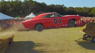 Download Cop Car Ford Crown Vic Transformed Into a General Lee Dodge Charger and Jumped Video