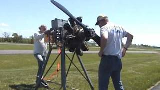 Download 2009 05 10 1918 WWI GNOME ROTARY AEROPLANE ENGINE STARTED Video