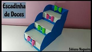 Download Escadinha de Doces Feita com Caixa de Leite e Papelão / Porta Docinhos 🍬🍭💖 Video