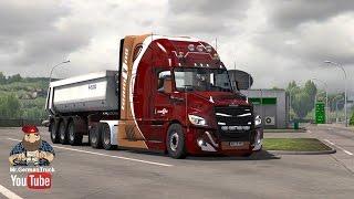 Download [ETS2 v1.26] Freightliner Cascadia v3.9.4 + Cabin DLC ready Video
