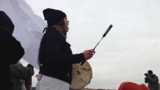 Download Singing and praying at barricade Standing Rock Video