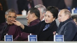 Download Putin flirt President Xi's wife Peng Liyuan at APEC Video