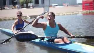 Download Olympic Kayaker Ines Esteves Flexing Biceps Video