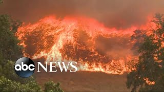 Download Firefighters battle wildfires across the West Video
