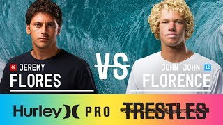 Download Jeremy Flores vs. John John Florence - Quarterfinals, Heat 3 - Hurley Pro at Trestles 2017 Video