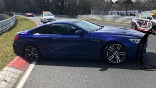 Download BMW M6 Loses Tyre on the Nürburgring Nordschleife! Video