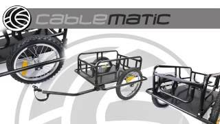 Download Remolque de bicicleta para carga de 60 Kg plegable distribuido por CABLEMATIC ® Video