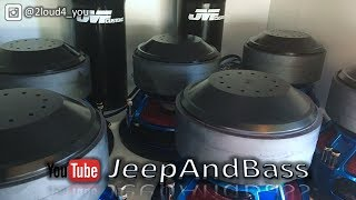 Download VIOLENT LOWS!!! 6 12s 6th order on 10,000+ watts! JeepAndBass demos at SurfCity 2017 Video