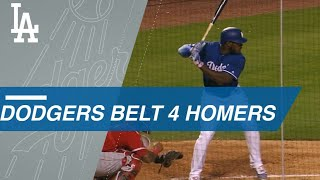 Download Dodgers' Puig, Hernandez, Seager and Bellinger connect for four long balls Video