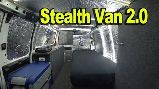 Download Tiny House: Cargo Van to Stealth Camper Van 2.0 - Carries Motorcycle Inside! Video