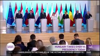Download Hungary Takes Over V4 Presidency Video