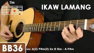 Download Ikaw Lamang - Silent Sanctuary Guitar Tutorial (cello mute effect, chords, strumming) Video
