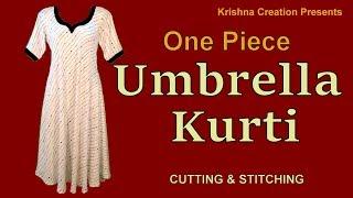 Download One piece Umbrella Kurti | अम्ब्रेला कुर्ती | Cutting and Stitching | Krishna Creation Video