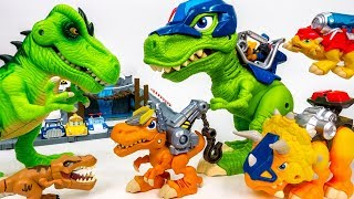 Download These Dinosaurs Bite~! Chomp Squad Vs Bad dinosaurs - ToyMart TV Video