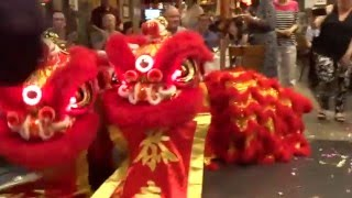 Download 2016 Chinese New Year Celebration - Lion Dance inside a restaurant in Sydney.Australia Video