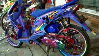 Download Motor Trend Modifikasi | Video Modifikasi Motor Honda Beat Airbrush Biru Terbaru Video