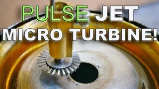 Download Tin Can Pulse Jet Powers a Tiny Turbine Wheel ! Video