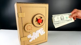 Download How to make a Safe box from Cardboard at home (full project measurement) - Mr H2 Video