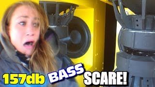 Download Horrified Sister BASS DEMO w/ EXO's 157db Subwoofer Sound System | Scaring Danyel w/ LOUD CAR AUDIO Video