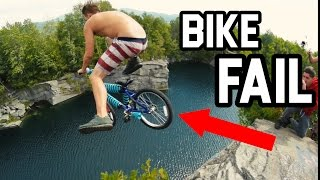 Download RIDING A BIKE OFF MASSIVE CLIFF! (70 ft) Video