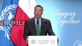 Download Poland: Arnold Schwarzenegger calls Trump 'meshugge' on climate agreement Video