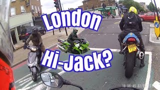 Download Motorcycle Theft London Attempted bike jacking on South circular SE23 1 Video