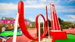 Download THE BEST MINI GOLF COURSE EVER! - TRIPLE HOLE IN ONE AND CRAZY HOLES! Video
