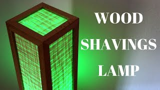 Download LED desk lamp made from wood shavings Video