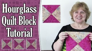 Download Quilting Blocks: Hourglass Quilt Block (aka Quarter Square Triangle) Tutorial Video