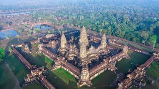 Download Angkor Wat Cambodia from the sky   2018 Video