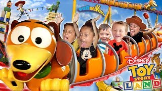 Download TOY STORY LAND Slinky Dog Dash Roller Coaster! Disney's Hollywood Studios Florida FUNnel Vision Vlog Video