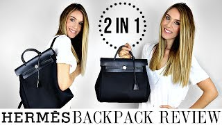Download HERMES HERBAG 2 IN 1 BACKPACK & TOTE REVIEW | HONEST OPINIONS - YAY OR NAY? | Shea Whitney Video