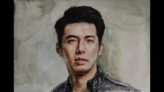 Download Watercolor Portrait 20 (Hyun Bin) / 얼굴그리기 인물수채화(현빈 인물화) Video