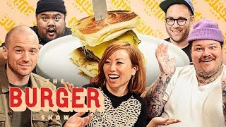 Download Sean Evans, Matty Matheson, and Miss Info Judge a Stunt Burger Showdown | The Burger Show Video