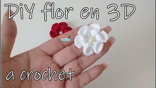 Download Tutorial : DiY flor en 3D a crochet -flor # 3 Video