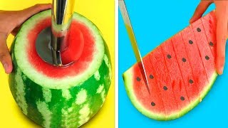 Download 22 SIMPLE LIFE HACKS WITH WATERMELON! Video