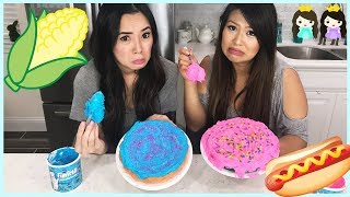 Download CAKE CHALLENGE! Baking and Decorating a cake with Princess ToysReview Video