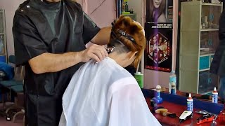 Download Barbershop girl buzzcut and shave Video