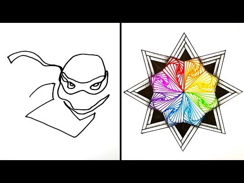 15 Easy Drawing Tricks | Tutorial Drawing