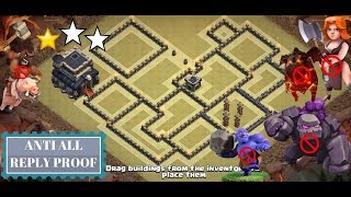 Download Best TH 9 Anti 3 Star War Base 2017 (Anti All Combo) | Clash of Clans | 3 Attack Defense Replay Video