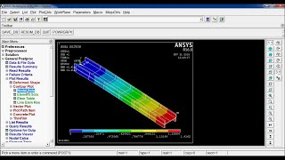 Download I section Simply supported Beam Analysis in ANSYS APDL 16.0 Video