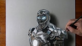 Download Drawing time lapse: Iron Man - hyperrealistic art Video