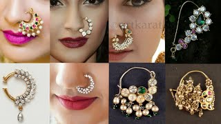 Download Latest Bridal Nath Design 2019   Beautiful Nose Pin For Brides Video