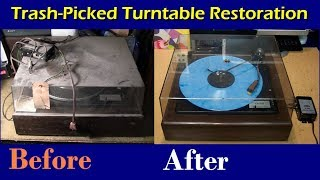 Download Trash-picked 1979 Zenith MC9020 turntable restoration Video