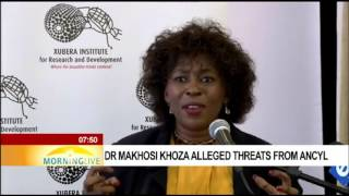 Download Dr Makhosi Khoza alleged threats from ANCYL Video