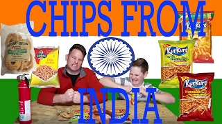 Download FATHER & SON TRY CHIPS FROM INDIA! Video
