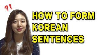 Download How to Form Korean Sentences ㅣ Basic Korean Lesson 01 Video